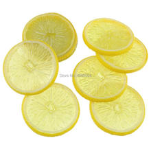 Gresorth 9 PCS Artificial Yellow Orange Slice Fake Fruits Slices Decoration Photography Props