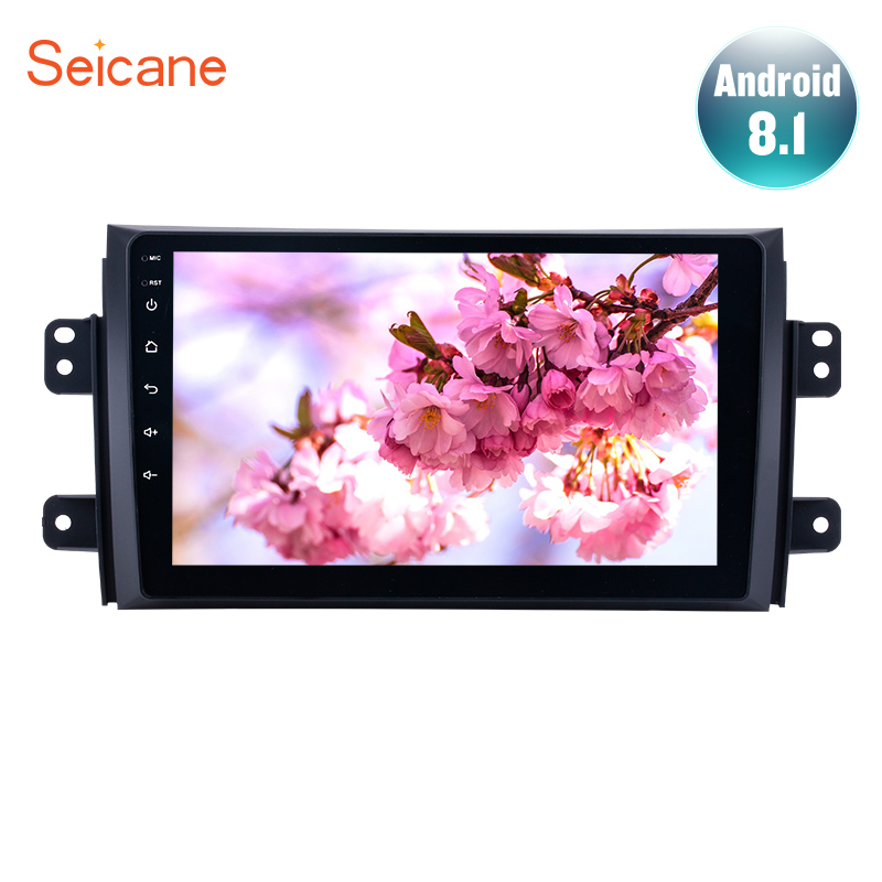 Seicane Android 7.1/8.1 9 inch HD 1024*600 Car GPS Auto Radio Unit Player for 2006-2012 Suzuki SX4 with Steering Wheel ControlSeicane Android 7.1/8.1 9 inch HD 1024*600 Car GPS Auto Radio Unit Player for 2006-2012 Suzuki SX4 with Steering Wheel Control
