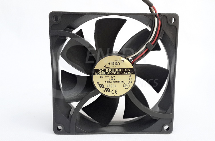 ADDA AD0912UB-A73GP 90mm 92mm DC 12V 0.46A radiator server inverter industrial Square cooling Fan 92x92x25mm