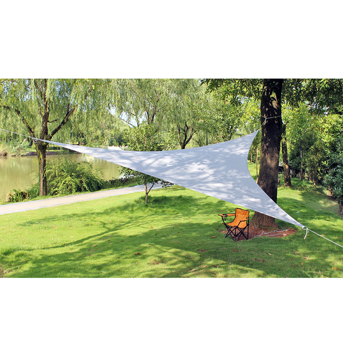 4M White Outdoor Waterproof Sunshade Sail Canopy Patio Awning Garden UV Camping Shelter Decor 2019 Summer New Arrival