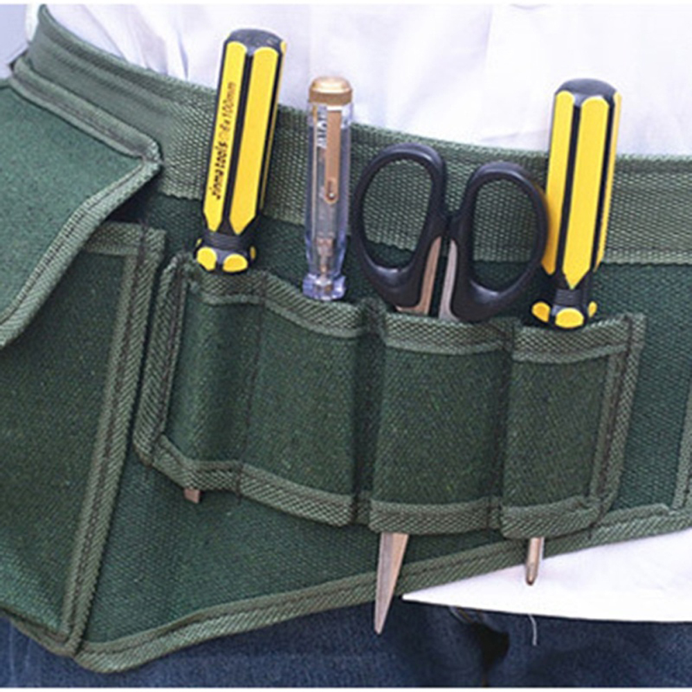 Useful Hardware Electrical Tool Bags Adjustable Waist Belt Tools Pockets Construction Packs Thicker Canvas Bag Without Tool