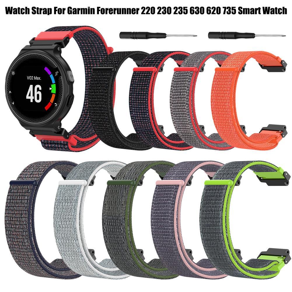 Nylon Replacement Watch Strap Wrist Band Strap For Garmin Forerunner 230 235 220 620 630 735 Smart Watch Smart Accessories