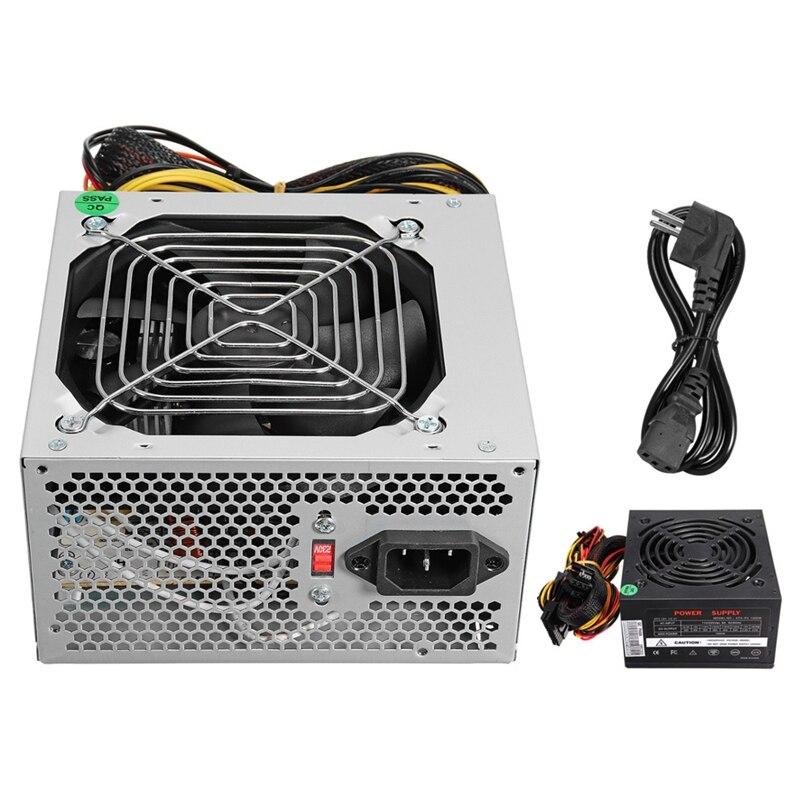 Max 1000W Atx Alimentation Ventilateur Silencieux Pour Intel Pour Amd Pc Psu Pc Ordinateur Mineur Eu Plug