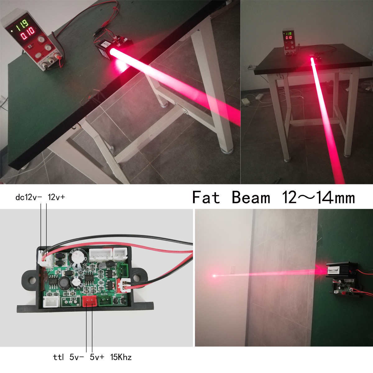 Fat Beam 200mW 650nm Red Dot Focusable Laser Diode Module TTL