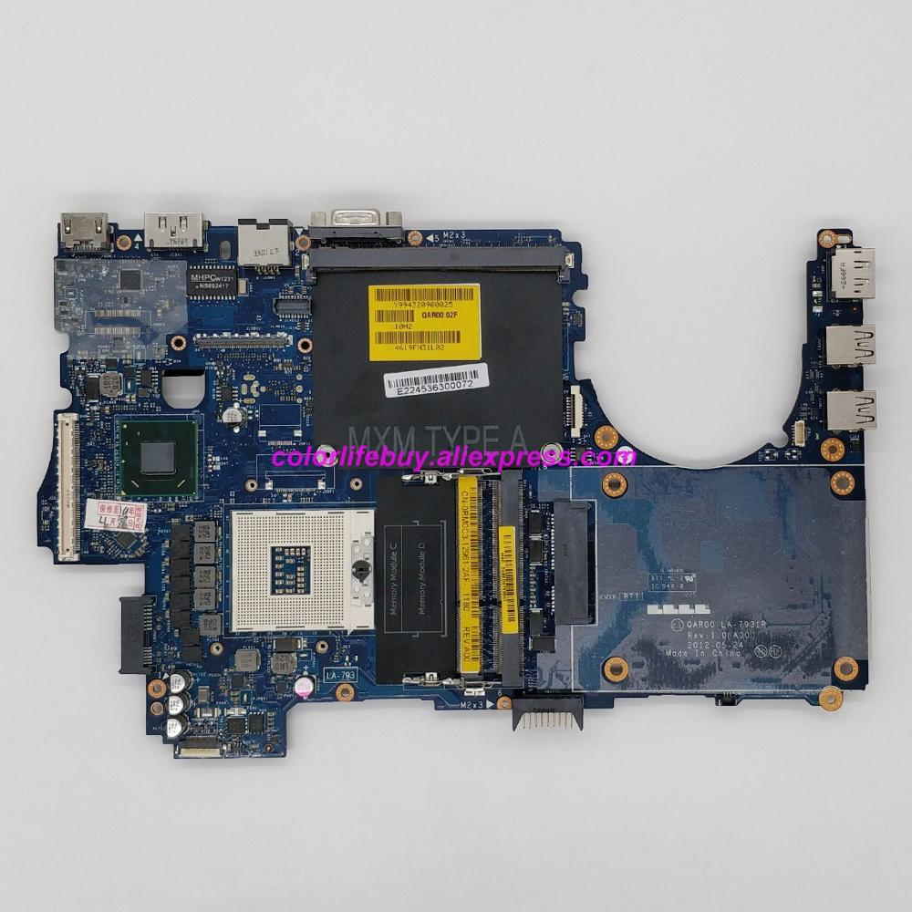 Genuine RM0C3 0RM0C3 CN-0RM0C3 LA-7931P Laptop Motherboard Mainboard for Dell Precision M4700 Notebook PCGenuine RM0C3 0RM0C3 CN-0RM0C3 LA-7931P Laptop Motherboard Mainboard for Dell Precision M4700 Notebook PC