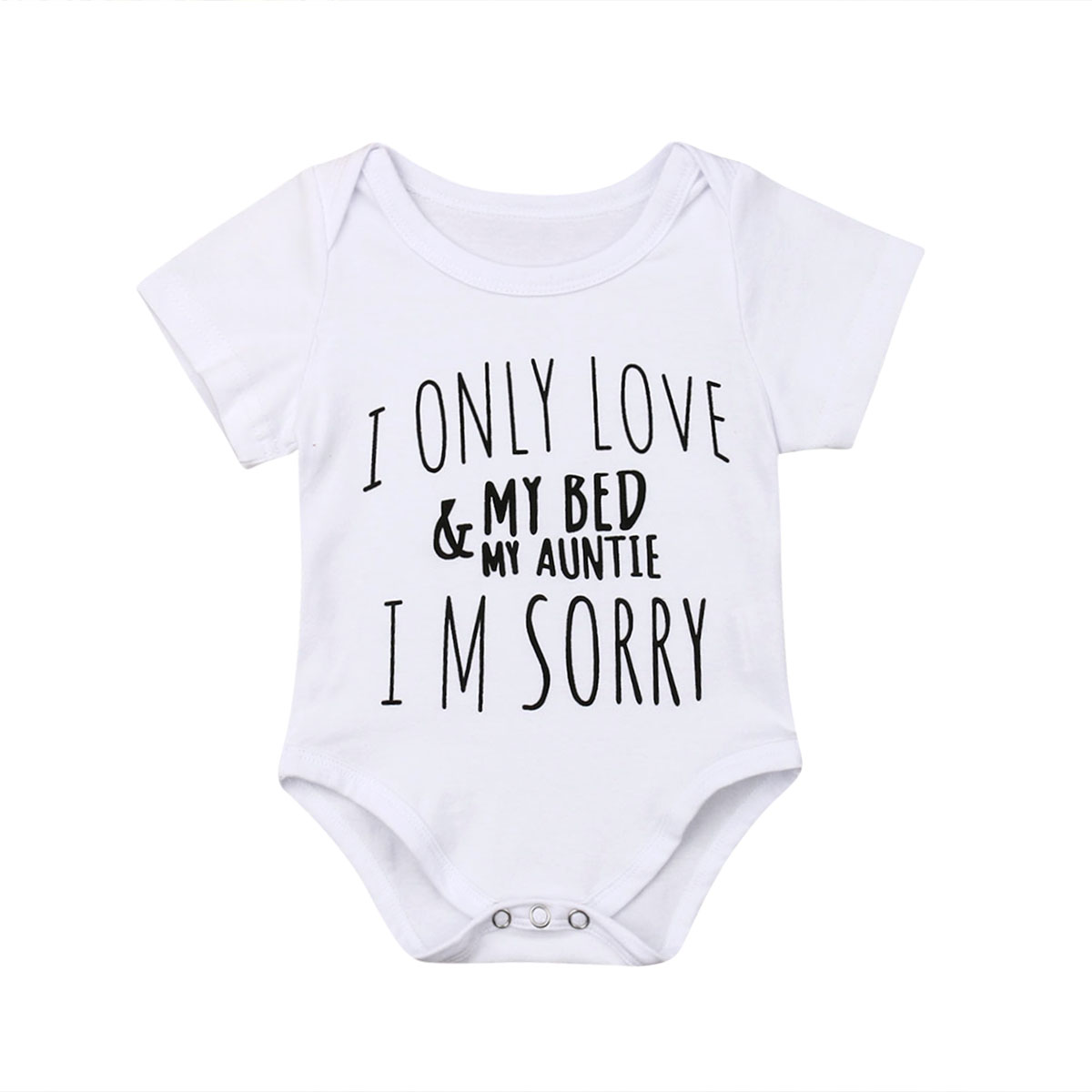 0-18M Kid Newborn Clothes Baby Girl Boy LOVE MY AUNTIE Bodysuit  Short Sleeve Jumper Sunsuit Outfits