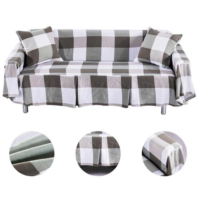 US $5.76 |sofa cover cotton linen Slipcover Protector sofa covers for  living room modern 1/2/3 seater couch covers for sofas #4O-in Sofa Cover  from ...