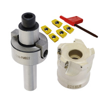 1set C16 FMB22 Shank + BAP300R 50 22 5T Face Milling CNC Cutter + 5pcs APMT1135 Inserts For Power Tool bap300r c16 17 160 indexable face milling cutter tools for apmt1135 carbide inserts suitable for nc cnc machine