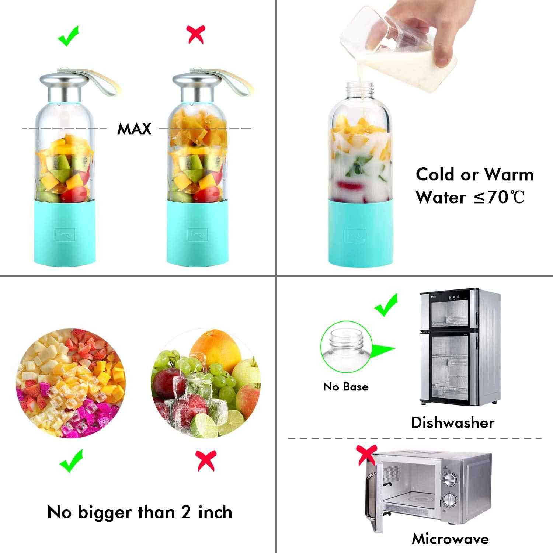 Smoothie Blender Liquidificador Pequeno portátil Usb Recarregável Único Servido Para Shakes E Smoothies, Misturador de Frutas Máquina De Gelo F