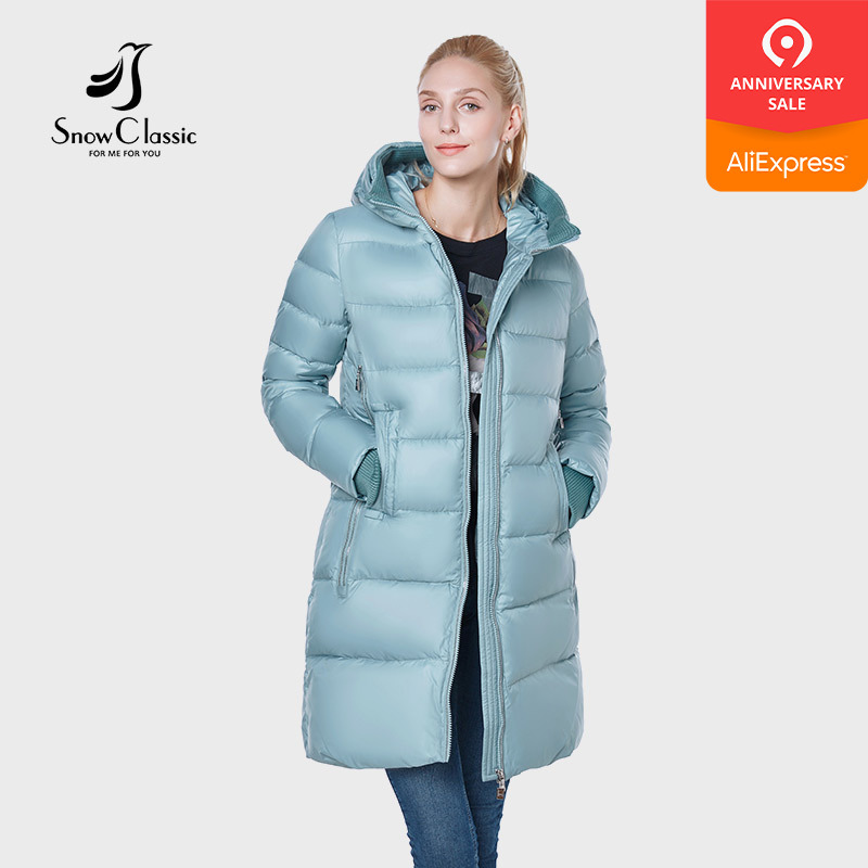 SnowClassic new 2018 jacket women camperas mujer abrigo invierno coat women park hat thick Detail decoration European design