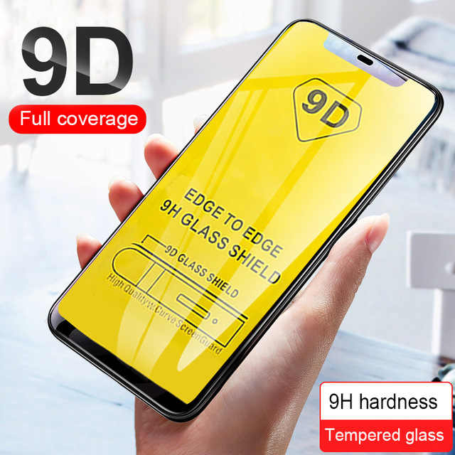 9D Glass on for iphone 6 6s 7 8 plus protective glass for apple iphone x xr xs max 10R 10S sx screen protector film ipone case