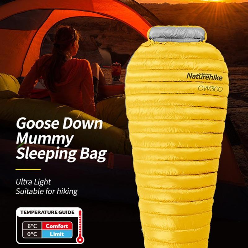 Nylon Ultralight Envelope Sleeping Bag Portable Goose Down Thicken Autumn Winter Sleeping Sleeping Bag Outdoor Camping Travel цена 2017