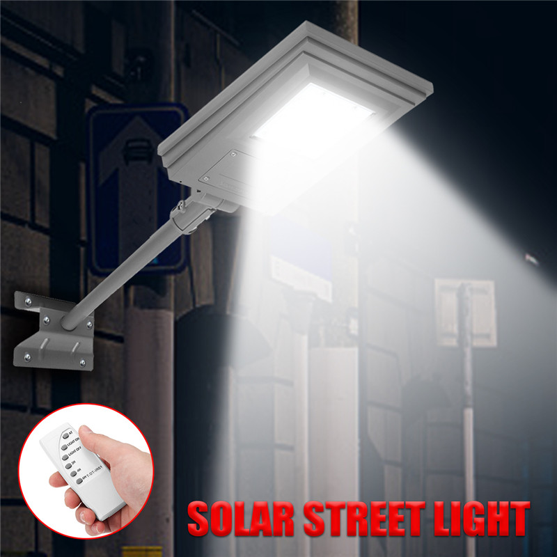 Smuxi 20W Solar Powered Street Light Walkway Light With Remote Controller With Bracket Outdoor Garden Security
