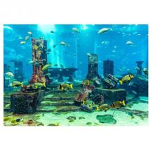 Sticker Background Poster Fish-Wall-Decorations Fish-Tank Coral Aquarium Blue Underwater