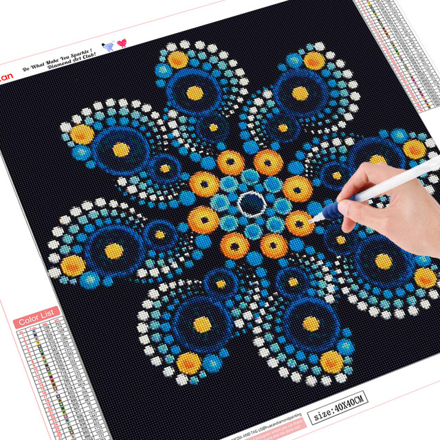 HUACAN Diamond Painting Mandala Full Square Diamond Embroidery Sale Flower Rhinestone Picture 5D DIY Diamond Mosaic