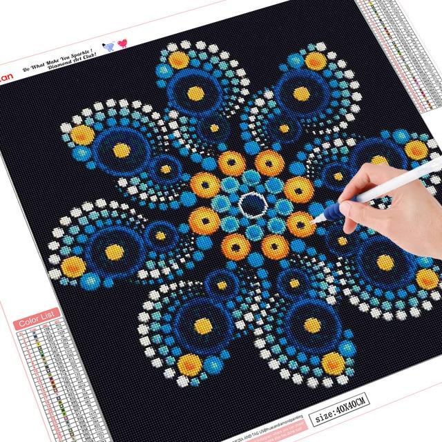HUACAN Diamond Painting Mandala Full Square Diamond Embroidery Sale Flower Rhinestone Picture 5D DIY Diamond Mosaic