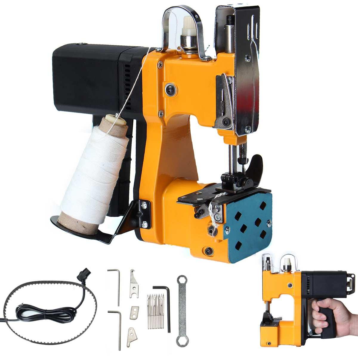 220 V мини электрические швейные машины комплект ручной сшиватель для мешка шить для запаковывания для промышленного текстиля для дома с вил
