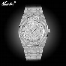 MISSFOX Silver Watch Women Casual Dress Ladies Watch Fashion Waterproof Steel Age Girl Wrist Watches For Women Valentines Gift(China)