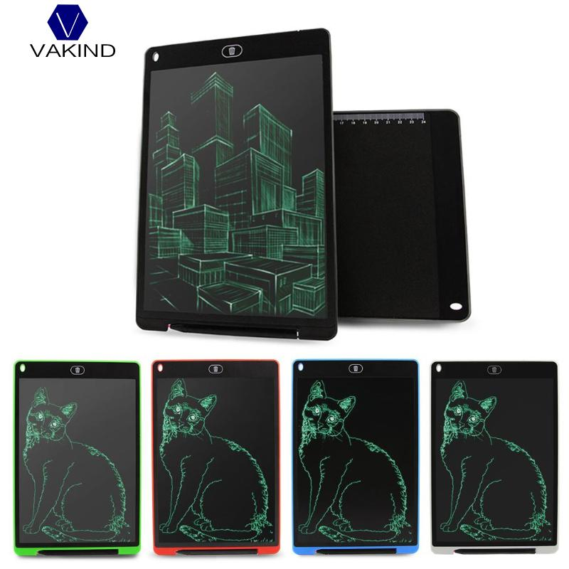VAKIND 12 pulgadas LCD escritura Tablet Digital dibujo de la tableta de escritura almohadillas electrónicos portátiles de la placa de la tableta, con pluma de aguja,