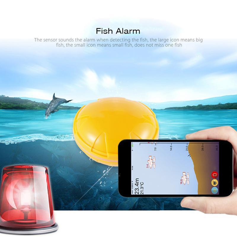 Смартфон Рыболокаторы Беспроводной Sonar Рыболокаторы глубина моря озеро рыба обнаружить для iOS Android Findfish Smart Sonar эхолот