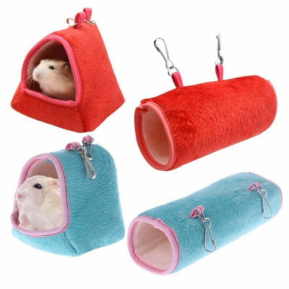 Winter Soft Warm Tunnel Hamster House Pet Hanging Cage Hammock Swing Nest For Sleeping