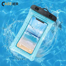 Funda impermeable CASEIER Airbag para Xiaomi Red mi 6A Note 5 6 7 Plus funda impermeable para fotografía subacuática xiaomi mi 8 9(China)