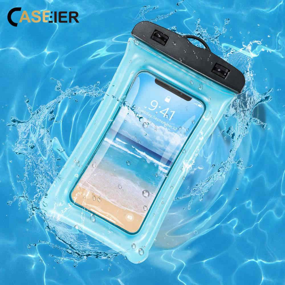 Водонепроницаемый чехол CASEIER для iPhone X XR XS MAX 7 8 Plus 6, водонепроницаемая сумка для подводной фотографии Samsung S10 S9 S8