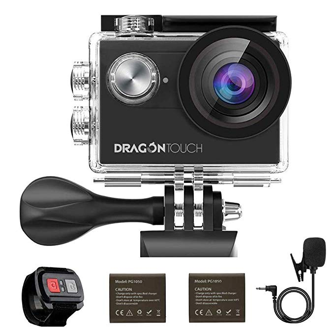 Action Camera 4K/30fps anti shake EIS 16MP Underwater Camera WiFi Sports Camera Support External Mic DragonTouch Vision 4