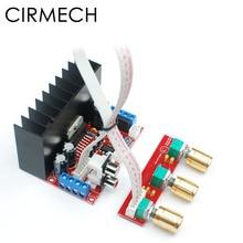 Cirmech amplificador tda7377 2.1ch, placa amplificadora de alta potência para computador super graves 2.1, amplificador de som de 3 canais, suíte diy