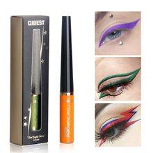 Qibest 16 cor matte líquido delineador caneta à prova dwaterproof água maquiagem de longa duração delineador beleza cosméticos delineador colorido tslm2