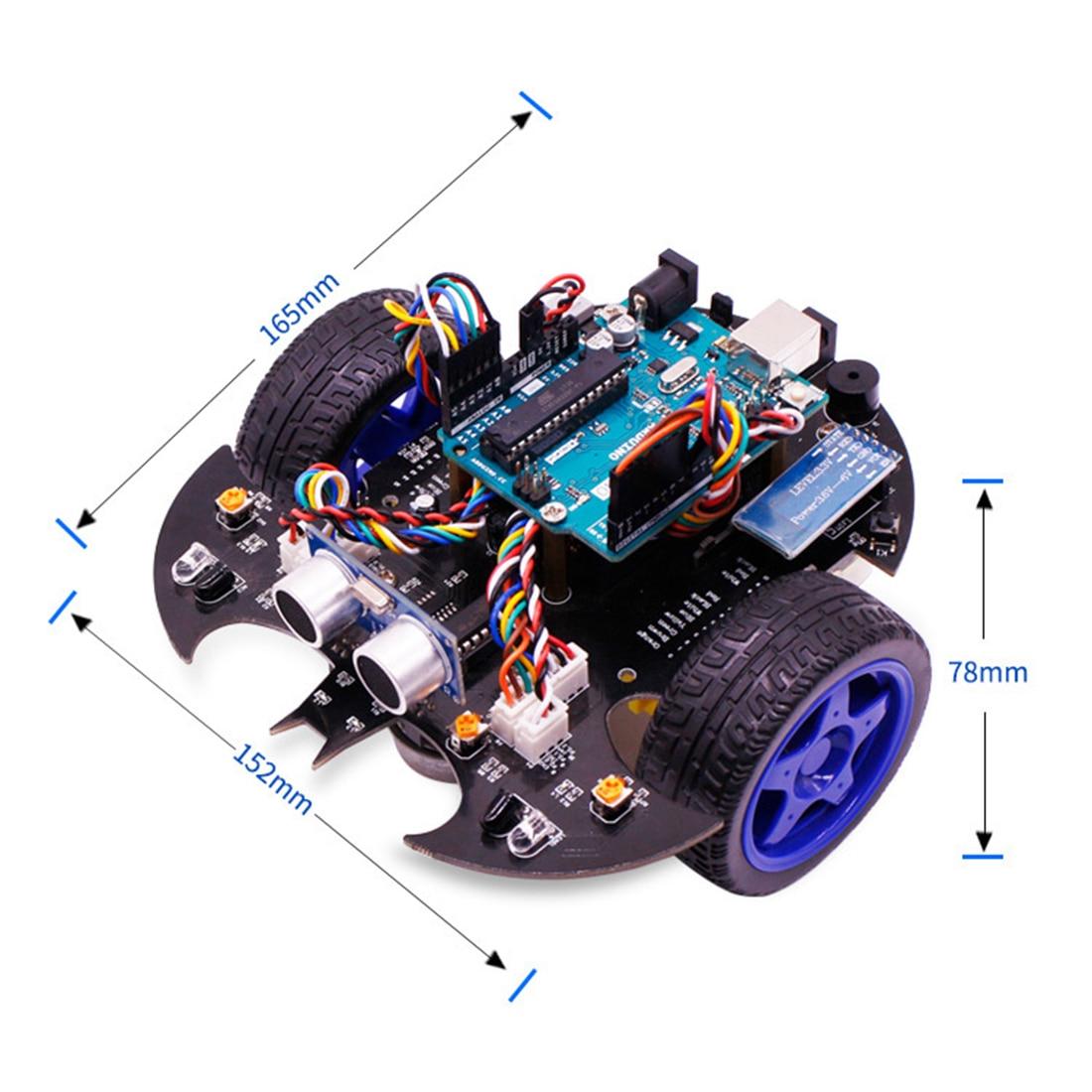 Kit de vapeur modèle de démarreur de voiture Robot intelligent Bat avec tutoriel jouet de tige électronique éducatif pour Arduino comprend carte mère R3 - 2
