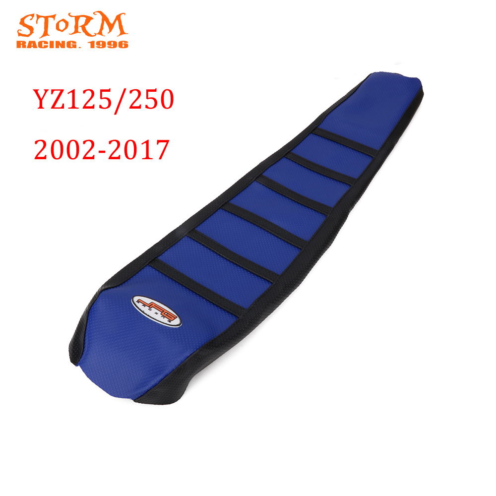 Soft Gripper Rubber Seat Cover For YAMAHA YZ125 YZ250 <font><b>YZ</b></font> <font><b>125</b></font> 250 1996-2001 2002-2017 1996 1997 1998 <font><b>1999</b></font> 2000 2001 2002 2003 image