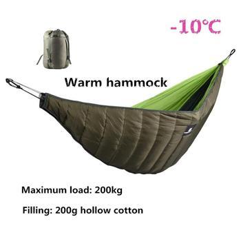 Mounchain Winter Warm Sleeping Bag Hammock Underquilt Sleeping Bag Warmer Under Quilt Blanket for Outdoor Camping hiking цена 2017