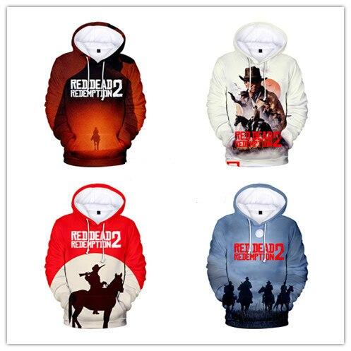 2018 RED DEAD REDEMPTION 2 3D Autumn Women/Men Hoodies Anime Hooides Sweatshirts Fans Hot Sale Men Cool Hoodies Print