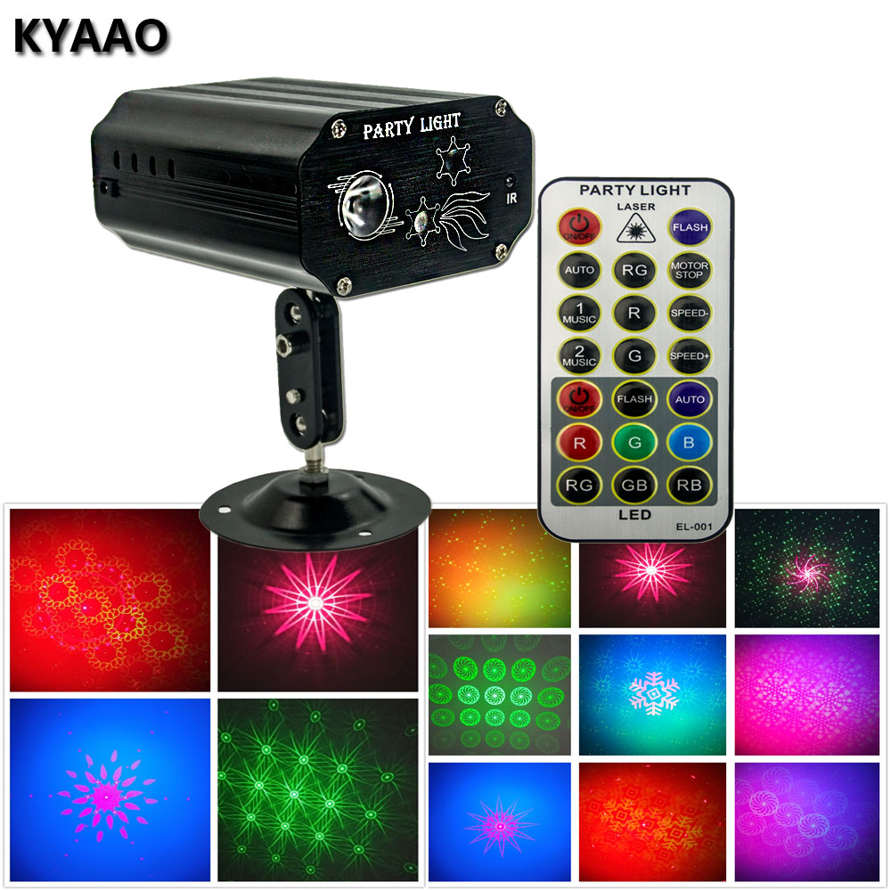 2018 Newest Christmas Party Holiday Laser Light RGB Colorful Aluminum Projector Dj Disco Stage Effect Lighting