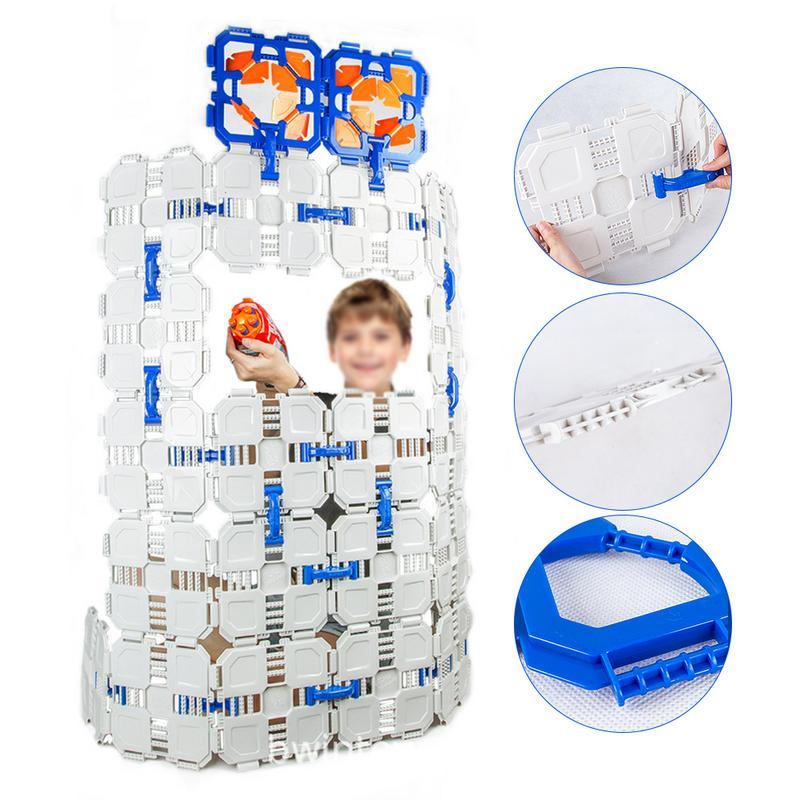 52 pièces En Plein Air Mini Basket-Ball Blocs Construisent les Conseils de Montage jouet d'extérieur blocs de construction compatible avec NERF Série Bataille Jouets
