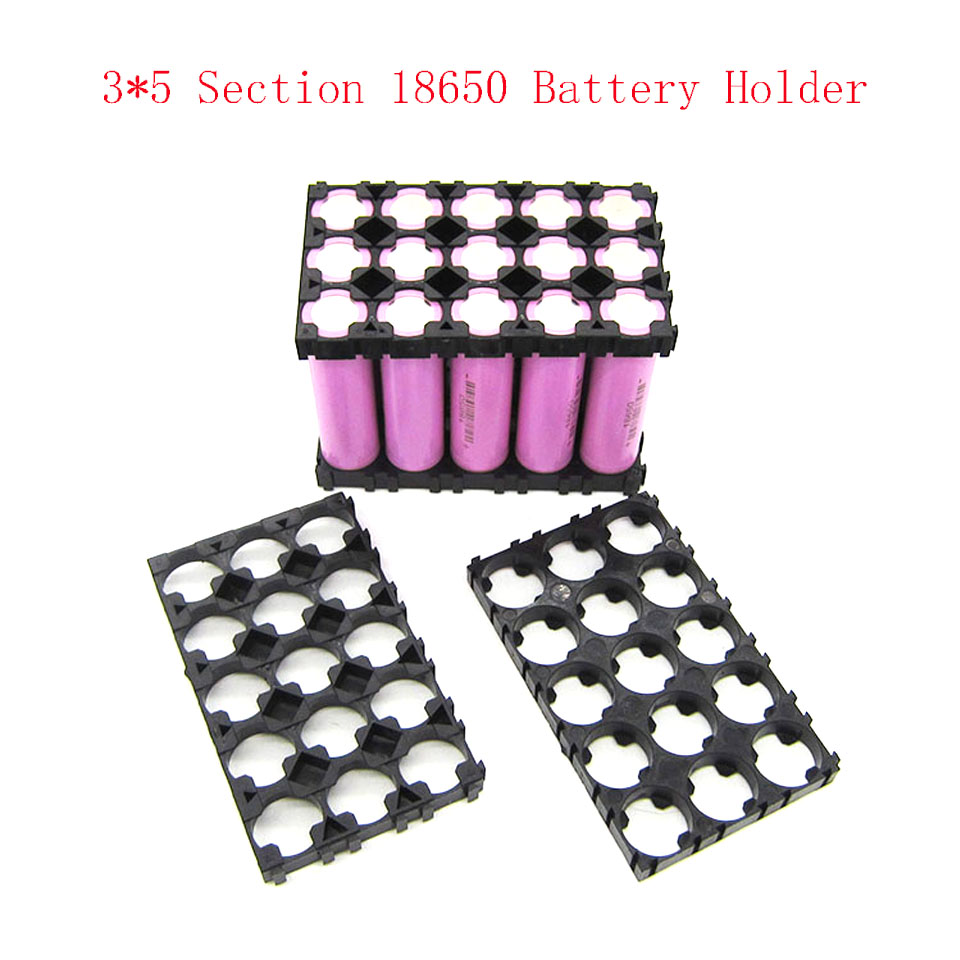 10pcs 4x5 Cell Space Holder 18650 Lithium Battery Plastic Rack Pwm Dc Motor Solar Charge Controller With Usbdc 5a Cmtp01du05a 3x5 Batteries Spacer Radiating Shell Heat Bracket