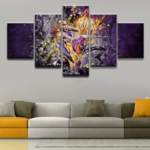 Canvas Poster HD Prints Room Wall Art Framework 5 Pieces Basketball Sport Player Paintings Home Decor Abstract Modular Pictures