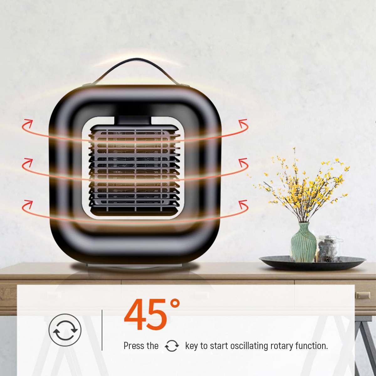 Household Space Heater 1000W Mini Desktop Heater Ceramic Heater Portable Handy Heater Heating Fan Warmer Air Blower Office