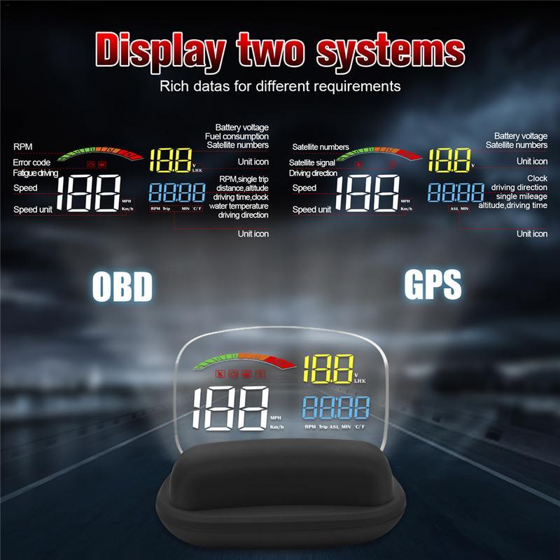 Angemessen 2019 Neue C800 2 In 1 Hd Obd2 Auto Hud Auf-board Computer Geschwindigkeit Projektor Gps Tacho Kopf- Up Display Dauerhafter Service