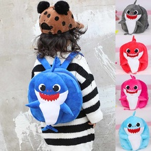 New Cartoon Baby Shark School Bag for Children Kids Cute Plush School  Backpack Blue Pink Color 3d8dec3670602