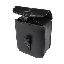 1 Pc Motorcycle Black Leather Waterproof Bag Saddle Storage Tool Box Pouch Side Case