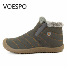 VOESPO Snow Walking Boots Men&Female Keep Warm Man Ankle Boots Shoes Rubber Sole Botas Masculinas Slip-on Scarpe Uomo Invernali