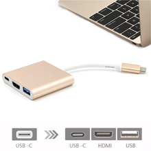 4K 3 in 1 USB Type C to Multiport HDMI Hub USB 3.1 Charging Adapter Converter Type C Extender for Mac OS Computer зажим ekf so 157 анкерный so157