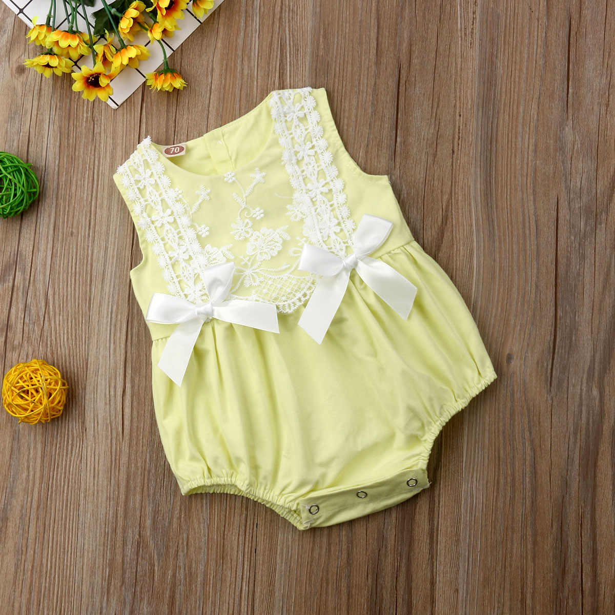 eb63ee0e437 ... 2019 New Infant Newborn Baby Girls Clothing Lace Ruffles Rompers  Jumpsuit Cute Bow Sunsuit Summer Baby ...