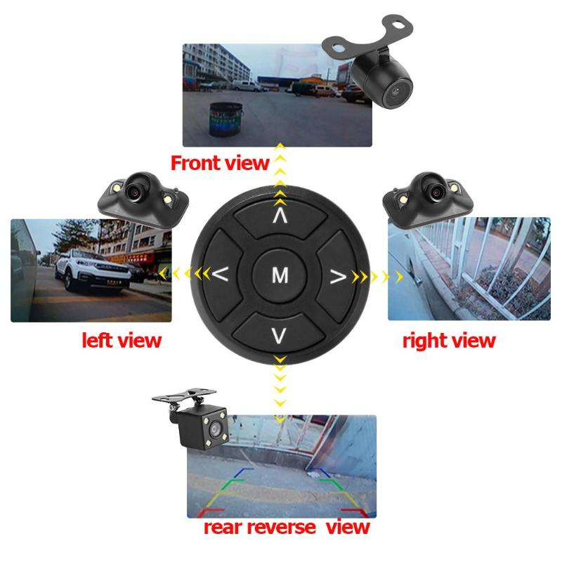 Car Blind Zone Auxiliary 360 Degree Bird View System 4 Camera Panoramic Car DVR Recording Parking Front+Rear+Left+Right View Cam