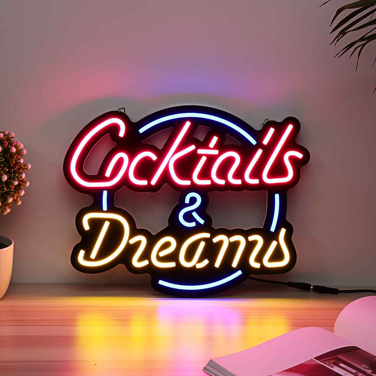 Cocktail Dream Real Glass Tube Neon Light Sign Tavern Beer Bar Pub Decoration Neon Lamp Board Commercial Lighting 17