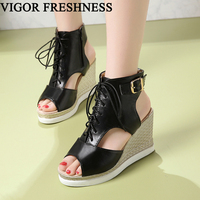 VIGOR FRESHNESS Women Shoes Wedges Sandals Platform Shoes Women's Shoes Gladiator Summer Sandals Party Lady Sexy Sandals MY129