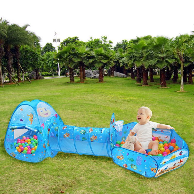Bébé extérieur plage lit balle fosse piscine tente jouer maison tipi rêve princesse tentes Tunnel intérieur jouet jeu Cubby maison pour enfants