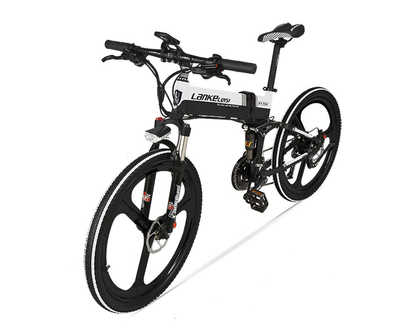 27 Speed Electric Scooter 48V Electric Bicycle 240W Hydraulic Disc Brake and Oil Suspension Adult Folding